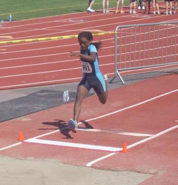 Umoja's Cynthia Smith Leaps to Bantam Girl's Long Jump National Lead
